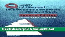 [Popular Books] Quality of Life and Pharmacoeconomics in Clinical Trials Full Online