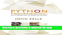 About For Books Python Programming: An Introduction to Computer
