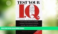 Big Deals  Test Your I.Q.: A Fun-filled Guide to Computing Your Own IQ  Best Seller Books Most