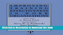 PDF Download Improving Training Effectiveness in Work
