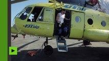 Tirer un hélicoptère de huit tonnes ? Pour cet femme russe c'est simple comme bonjour