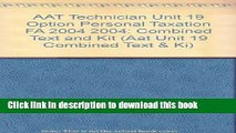 [Popular] AAT Technician Unit 19 Option Personal Taxation FA 2004 2004: Combined Text and Kit