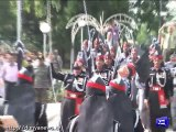 Watch flag hoisting ceremony at Wahga Border