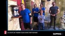 Fort Boyard : Thierry Olive tombe lors d'une épreuve et perd son pantalon (Vidéo)