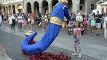 Genie Magic Lamp Levitation   Street Performer