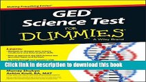 [Popular Books] GED Science For Dummies Full Online