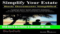 [Popular] Simplify Your Estate - Basic Documents Simplified Paperback Collection