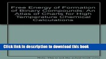 [Popular] Free Energy of Formation of Binary Compounds: An Atlas of Charts for High-Temperature