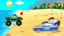 The Police Cars with Racing Cars - Speed Race Cartoons for children. Cop Cars Kids Cartoon