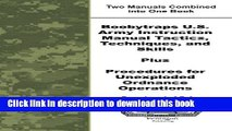 [Download] Boobytraps U.S. Army Instruction Manual Tactics, Techniques, and Skills Plus Procedures
