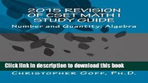 [Download] 2015 Revision of CSET Math I: Number and Quantity; Algebra Paperback Collection