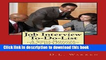 [Popular Books] Job Interview To-Do-List: A Simple Makeover for Anyone Preparing for a Job