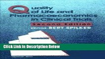 Ebook Quality of Life and Pharmacoeconomics in Clinical Trials Free Online