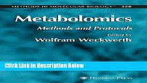 Books Metabolomics: Methods and Protocols (Methods in Molecular Biology) Free Online