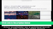 Ebook Cell Culture Models of Biological Barriers: In vitro Test Systems for Drug Absorption and