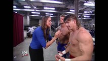 Stephanie McMahon & Chris Benoit & Eddie Guerrero & Edge Backstage SmackDown 08.22.2002 (HD)