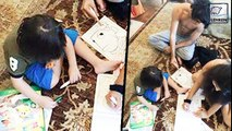 Shahrukh's SON AbRam CAUGHT Painting With Aryan & Suhana Khan