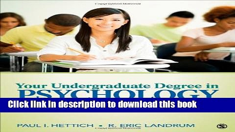 [Popular Books] Your Undergraduate Degree in Psychology: From College to Career Free Online