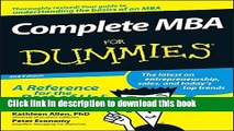 [Download] Complete MBA For Dummies Hardcover Collection