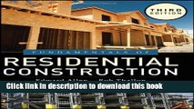 [Download] Fundamentals of Residential Construction Hardcover Free