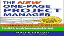 [Download] The New One-Page Project Manager: Communicate and Manage Any Project With A Single
