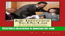[PDF] Job Interview To-Do-List: A Simple Makeover for Anyone Preparing for a Job Interview