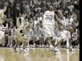 NBA - Vince Carter in North Carolina Dunks Over Tim Duncan