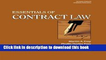 [Popular] Essentials of Contract Law Kindle Free