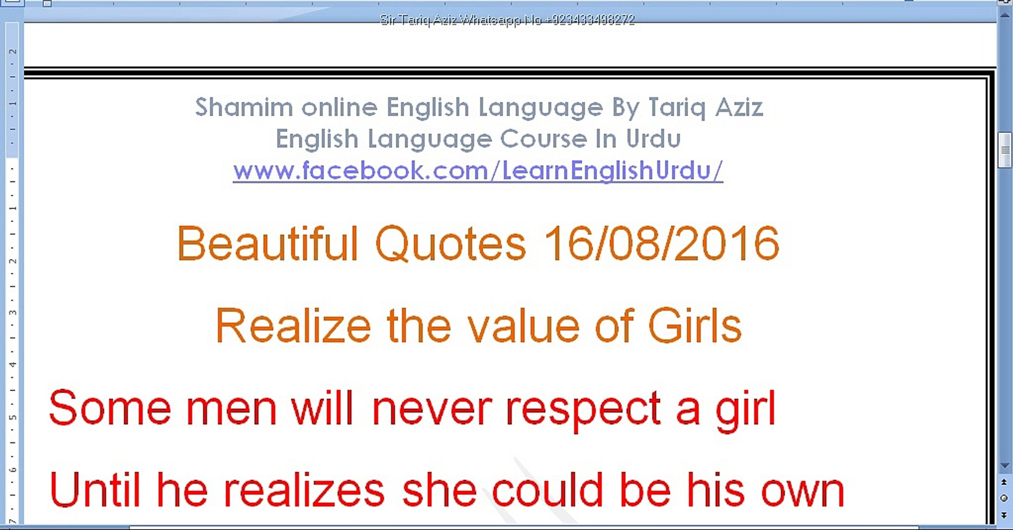 beautiful quotes and golden words realize the value of girls