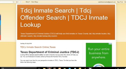 TDCJ Resource | Learn About, Share and Discuss TDCJ At