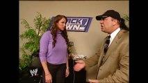 Stephanie McMahon & Paul Heyman Backstage SmackDown 10.17.2002 (HD)
