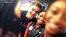 Olympian Simone Biles gets kiss from celebrity crush Zac Efron