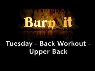 Burn It | Tuesday | Back Workout | Upper Back