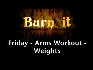 Burn It | Friday | Arms Workout | Weights