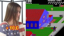 U.S. Olympic BMX Riders Play Nintendo Game 'Paperboy'