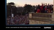 JO 2016 : Juan Martin Del Potro accueilli en véritable héros en Argentine (Vidéo)