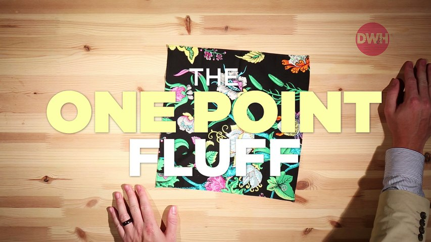 How to Fold a Pocket Square: The One Point Fluff