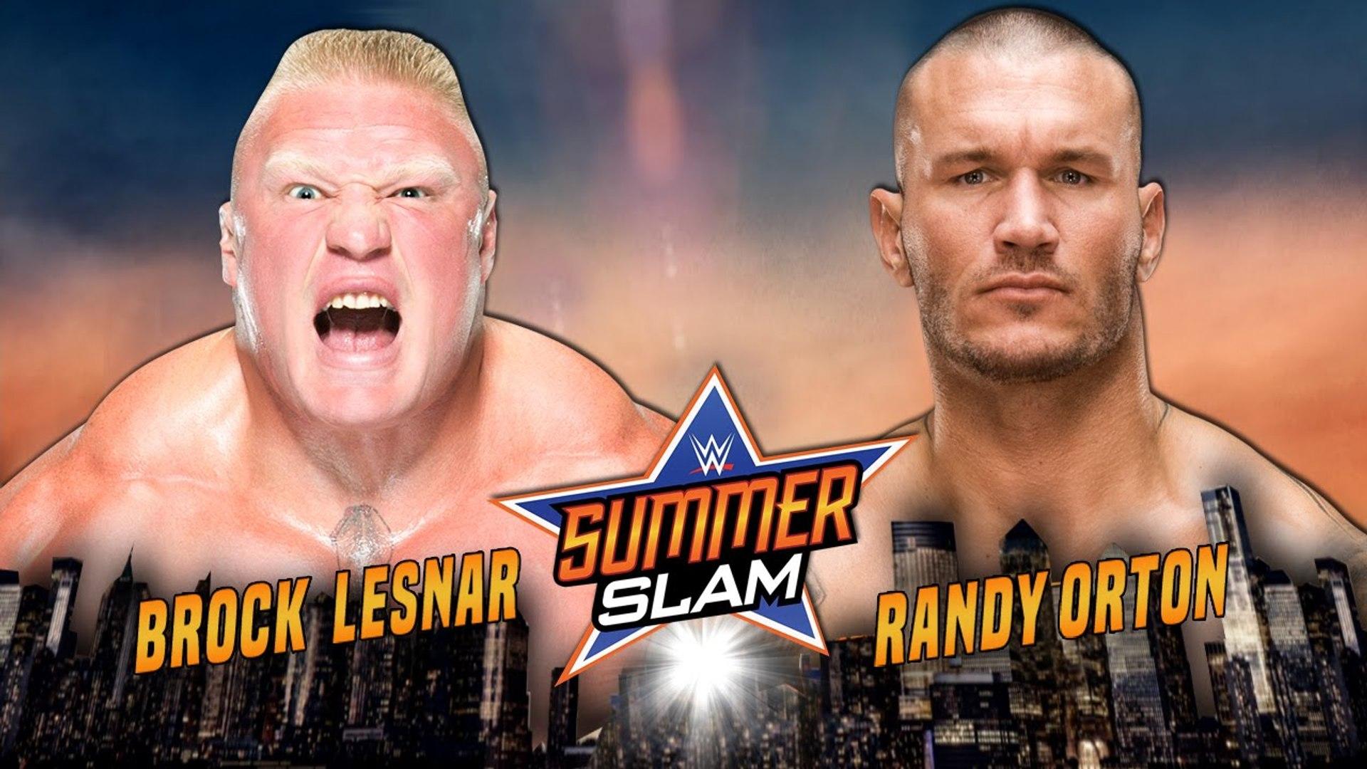 Wwe Summerslam 2016 Brock Lesnar Vs Randy Orton 21 August