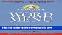[Popular Books] Random House Webster s Word Menu (Random House Newer Words Faster) Full Online