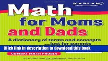 [Download] Math for Moms and Dads: A dictionary of terms and concepts...just for parents Kindle