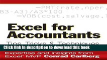[Popular] Excel for Accountants: Tips, Tricks   Techniques: Tips, Tricks, and Techniques Paperback