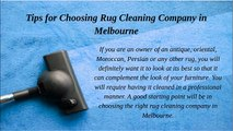 Tips for Choosing Rug Cleaning Company in Melbourne