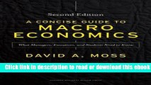 A Concise Guide to Macroeconomics, Second Edition: What Managers, Executives, and Students Need to