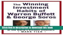[Download] The Winning Investment Habits of Warren Buffett   George Soros Hardcover Online