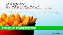 Ebook Obesity Epidemiology: From Aetiology to Public Health Free Online