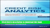 [Popular] Credit Risk Analytics: Measurement Techniques, Applications, and Examples in SAS