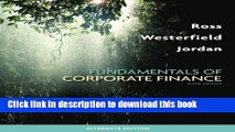 [Popular] Fundamentals of Corporate Finance Alternate Edition Kindle Collection