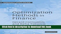 [Popular] Optimization Methods in Finance Hardcover Collection