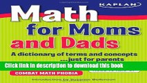 [Download] Math for Moms and Dads: A dictionary of terms and concepts...just for parents Hardcover