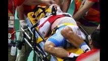 cycle race crash Mark Cavendish causes horror CRASH during Omnium race Rio Olympics 2016-